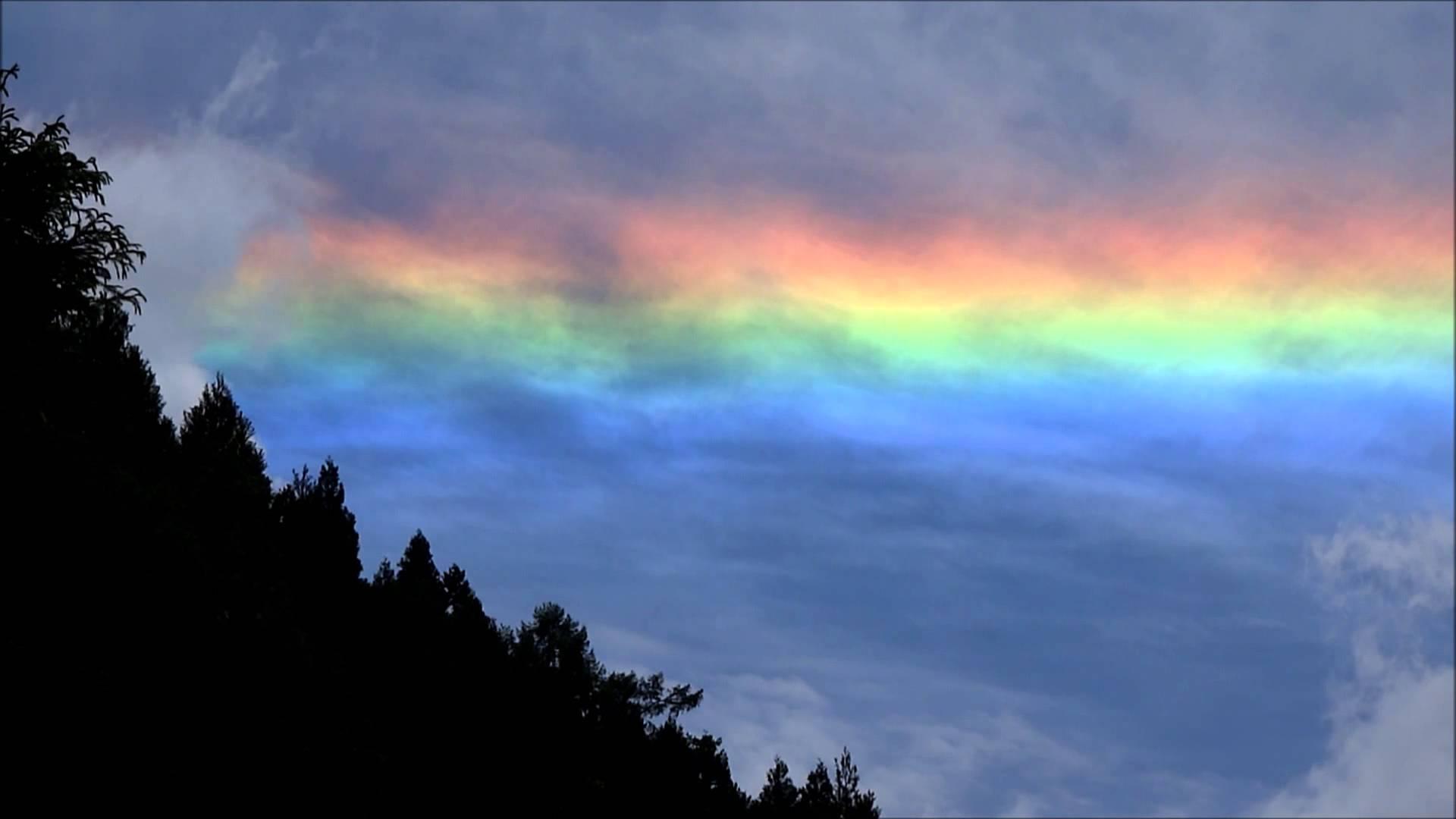「環水平アーク(かんすいへいアーク)」とは何ですか?「水平弧(すいへいこ)」「水平環(すいへいかん)」とも呼ばれる虹色現象との事。