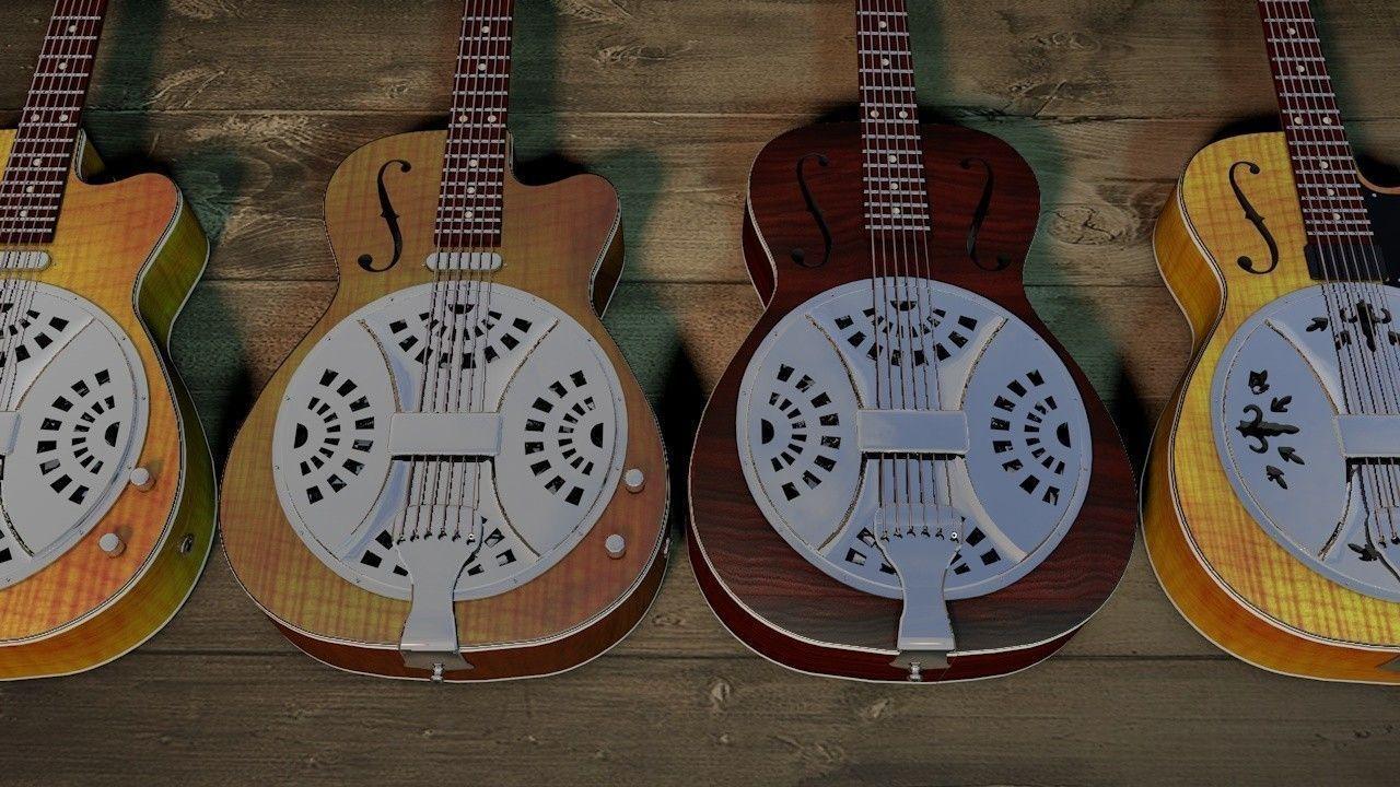 「リゾネーター」とはどういう意味?「リゾネーター・ギター (Resonator guitar)」と言われるアコースティックギターの一種との事。