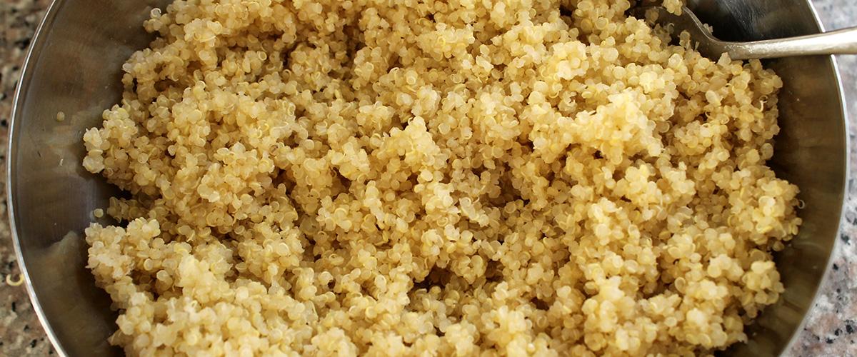 「キヌア」とはどういうもの?アルファベットで「Quinoa」と記述する穀物との事。