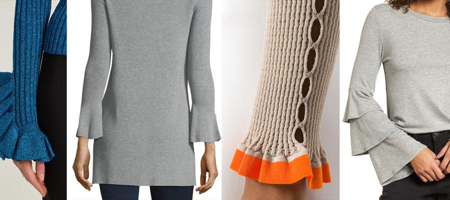 Ruffle-Cuff-Rib-knit