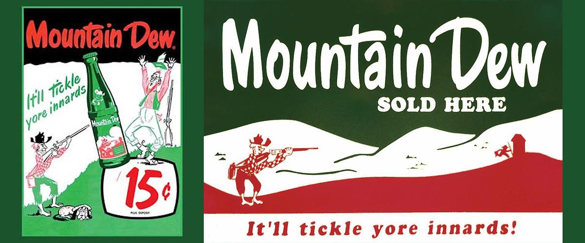 そもそも「マウンテンデュー」とはどういう意味?英語で「Mountain Dew」と記述するとの事。
