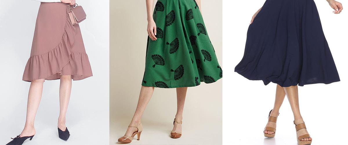 「ミディスカート」とはどういう意味?アルファベットで「midi skirt」と記述するとの事。