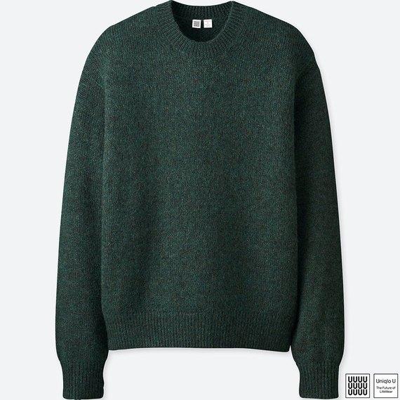 メランジクルーネックセーター