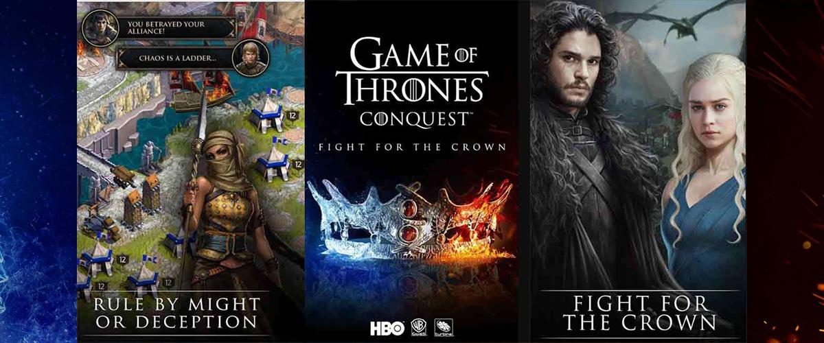 「ゲーム・オブ・スローンズ:コンクエスト」とはどういう意味?英語で「Game of Thrones: Conquest」と記述するとの事。
