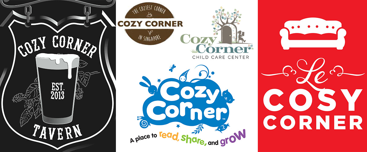 「コージーコーナー」とはどういう意味?英語で「Cozy Corner」と記述するとの事。