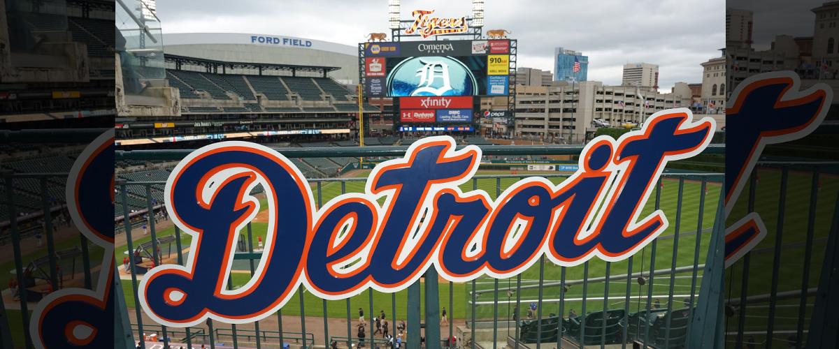 「デトロイト・タイガース」とはどういう意味?英語で「Detroit Tigers」と記述するとの事。
