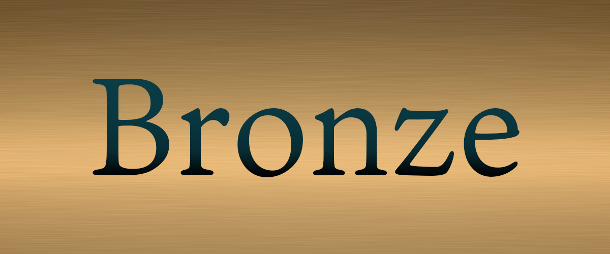 そもそも「ブロンズ」とはどういうもの?英語で「bronze」と記述するとの事。
