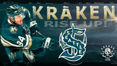 「シアトル・クラーケン」とはどういう意味?英語で「Seattle Kraken」と記述するとの事。
