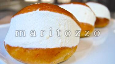 「マリトッツォ」とはどういう意味?イタリア語で「maritozzo」と記述するとの事。