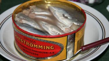 「シュールストレミング」とはどういう意味?スウェーデン語で「surströmming」と記述するとの事。